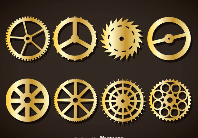 632x443 Gold Clock Gears Vector Free Vector Download 377481 Cannypic