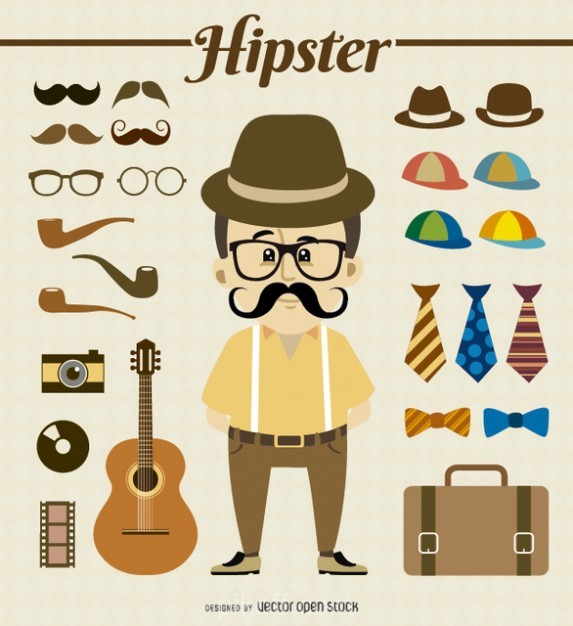 573x626 Ai] Hipster Gear Vector Free Download