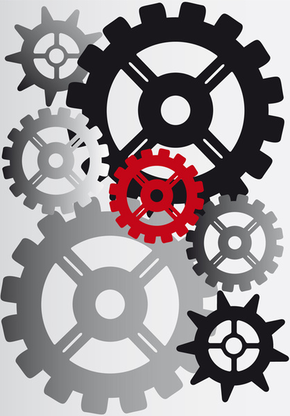 418x600 Set Of Gears Assemble Vector Backgrounds Free Vector In
