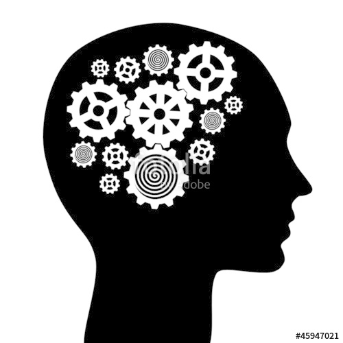 500x500 Human Head With Gears Vector Illustration Stock Image And Royalty