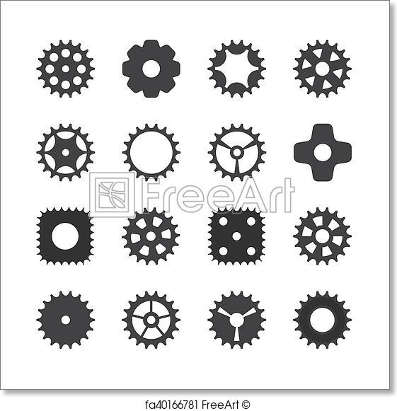 561x581 Free Art Print Of Machine Gear Wheel Cogwheel. Vector Illustration