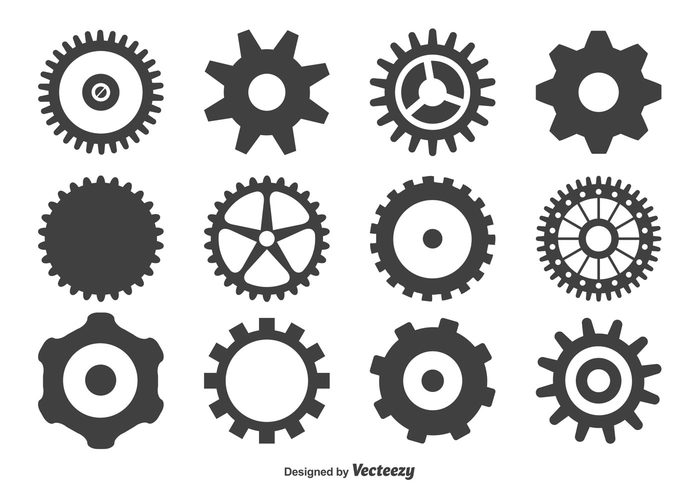 700x490 Free Vector Gear Wheels Shape Set