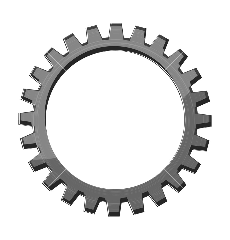 958x1000 Gear Wheel Tooth Vector Royalty Free Stock Image