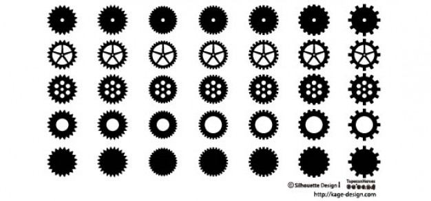 626x293 Gear Wheel 2 Vector Free Download