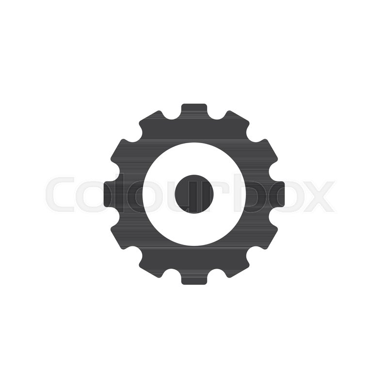 800x800 Gear Wheel Vector Icon. Filled Flat Sign For Mobile Concept And