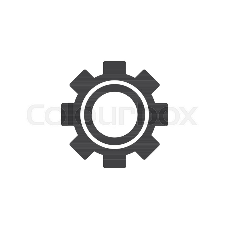 800x800 Gearwheel Vector Icon. Filled Flat Sign For Mobile Concept And Web