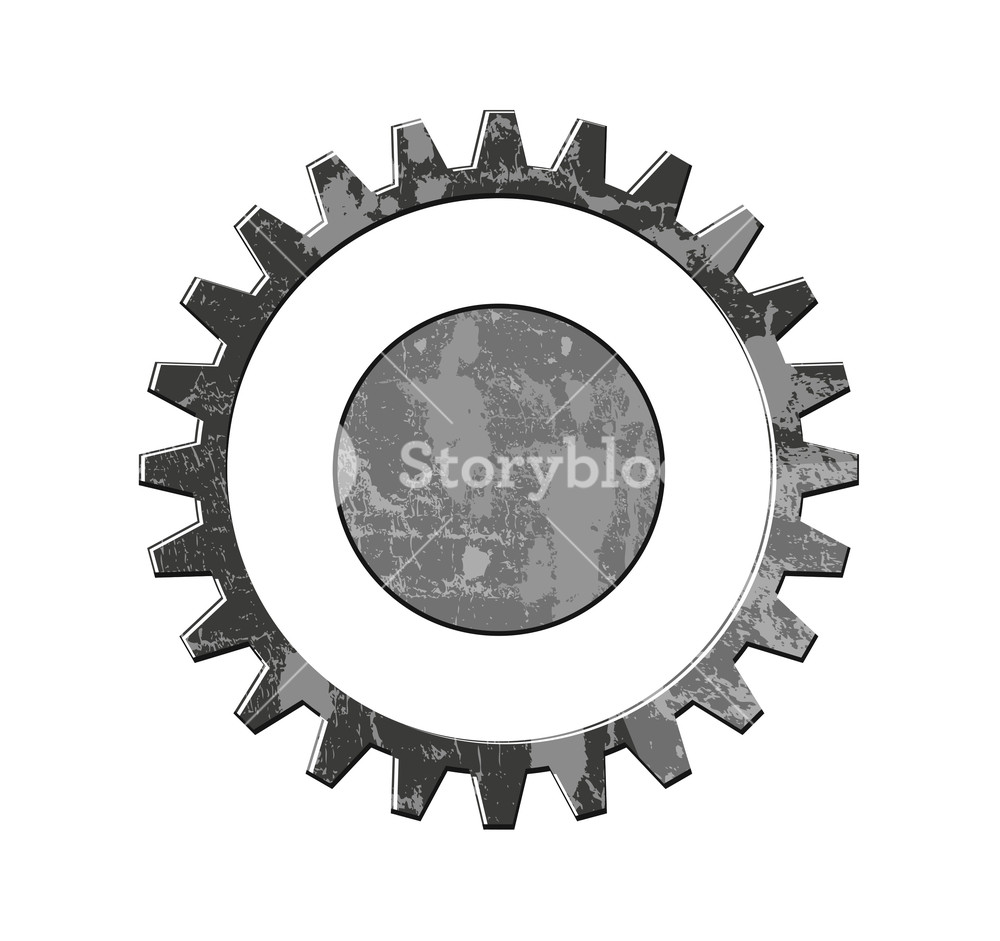 1000x941 Grunge Gear Wheel Vector Royalty Free Stock Image