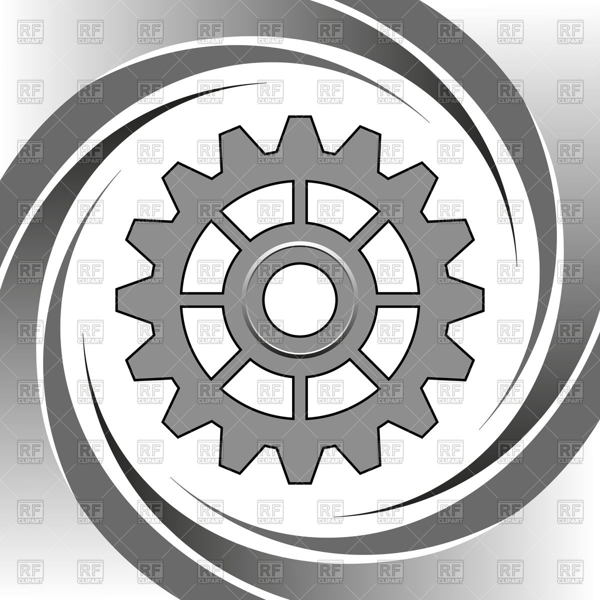1200x1200 Machine Gear Wheel Vector Image Vector Artwork Of Objects