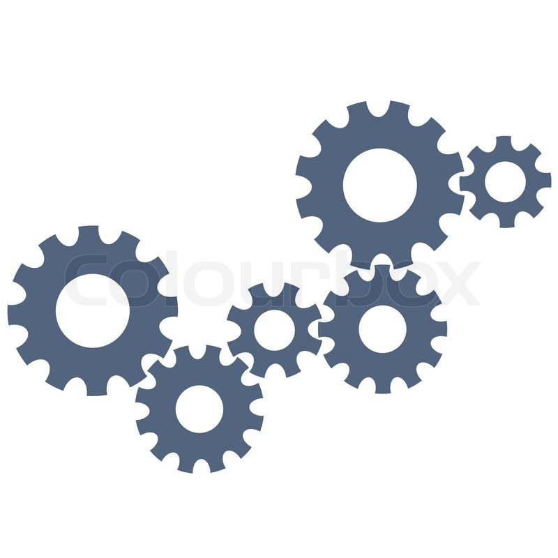 800x800 Abstract Gear Wheels. Vector Design Template Stock Vector