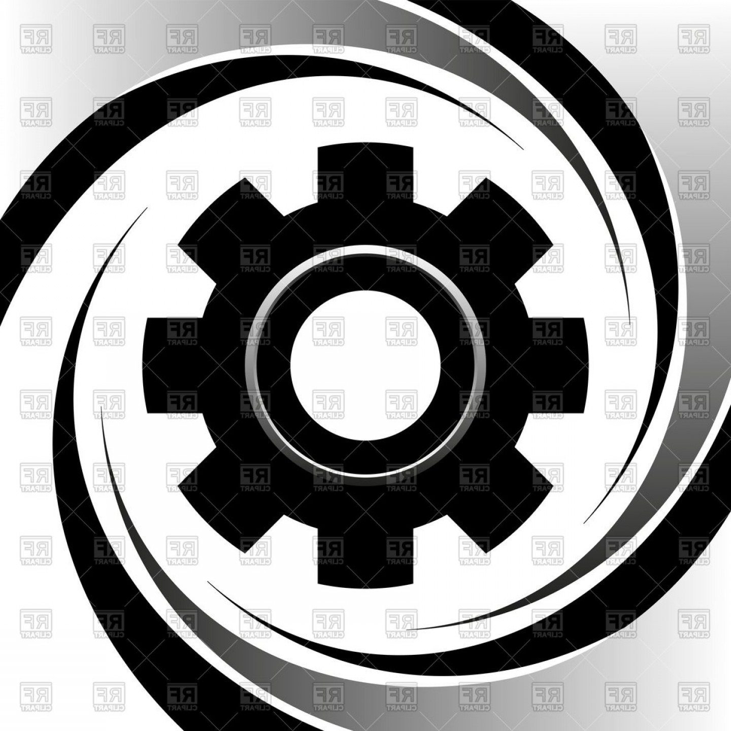 1440x1440 Silhouette Of Machine Gear Wheel Vector Clipart Shopatcloth
