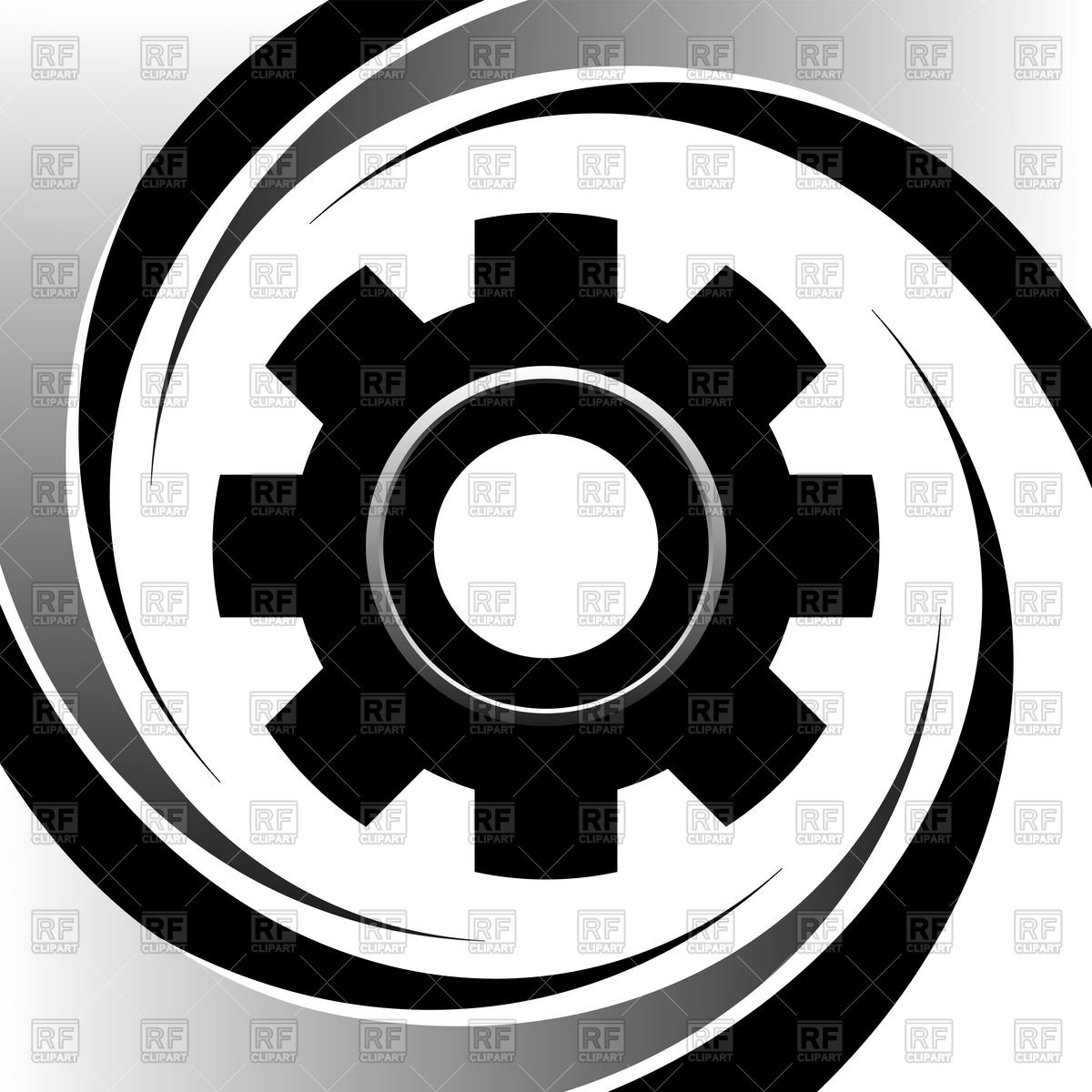 1200x1200 Silhouette Of Machine Gear Wheel Vector Image Vector Artwork Of