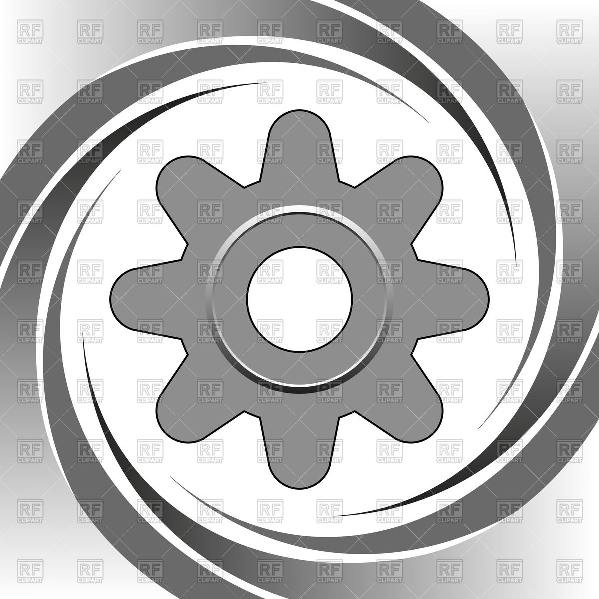 1200x1200 Steel Machine Gear Wheel Vector Image Vector Artwork Of Objects