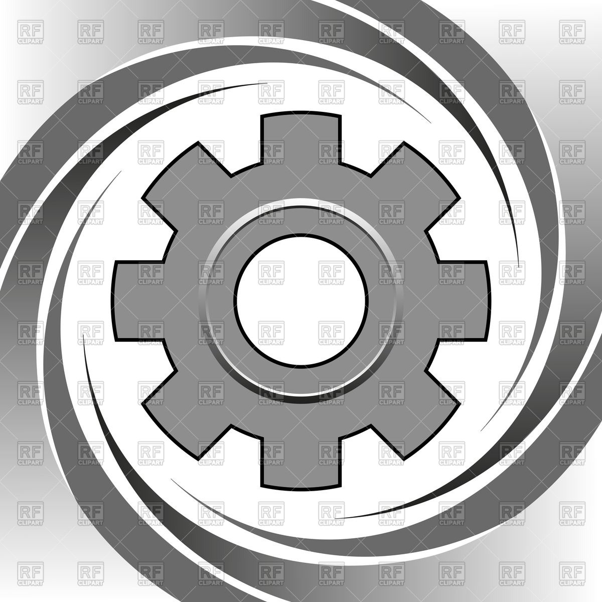 1200x1200 Steel Machine Gear Wheel On Silver Background Vector Image