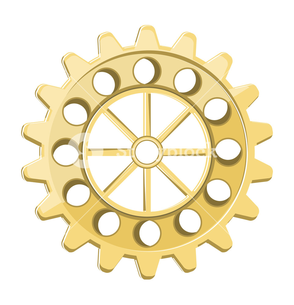 963x1000 Vintage Gear Wheel Vector Royalty Free Stock Image