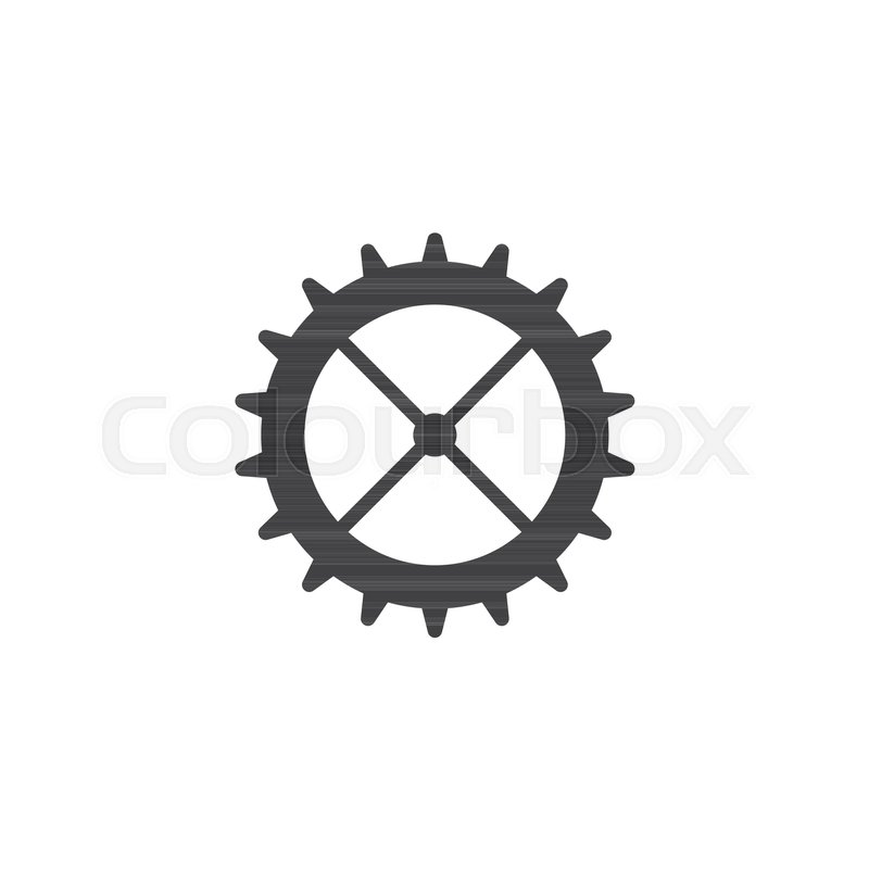 800x800 Cog Wheel Vector Icon. Filled Flat Sign For Mobile Concept And Web