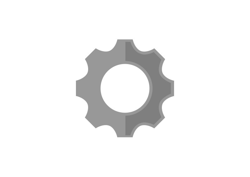 800x566 Flat Gear Wheel Vector