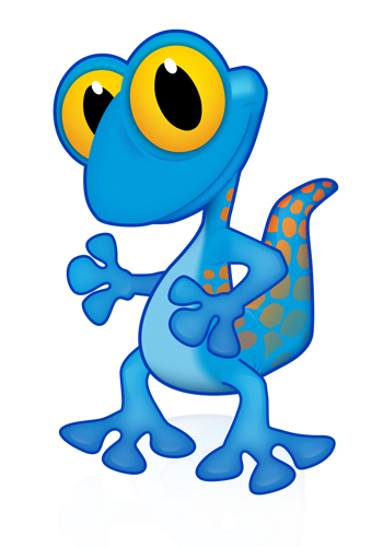 350x500 Gil Gecko Vector Files (Royalty Free)