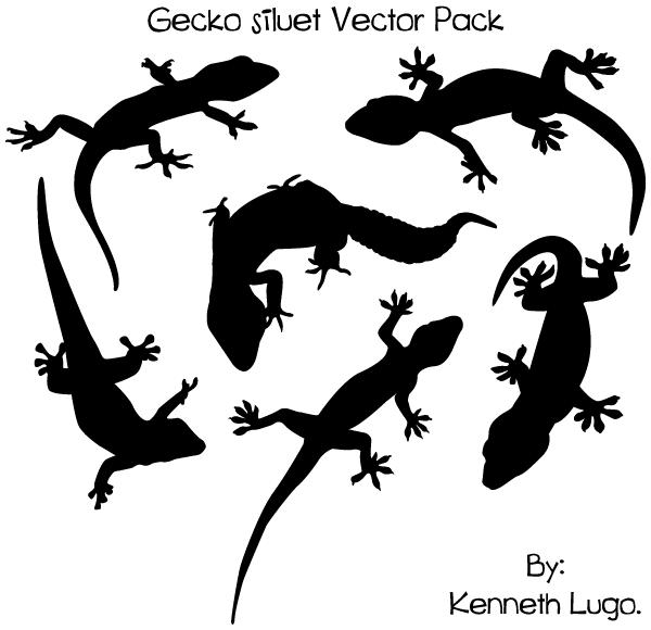 600x580 Free Gecko Silhouette Vector Art 123freevectors