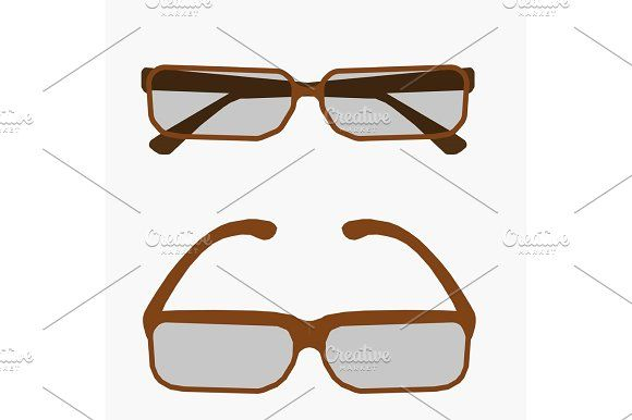 580x386 Vector Illustration Metal Framed Geek Glasses Isolated On A White