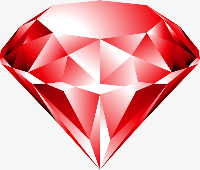 650x553 Vector Hand Painted Red Gem, Vector, Hand Painted, Red Png And