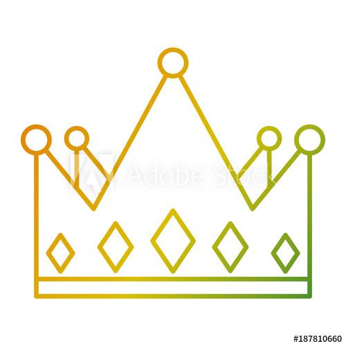 500x500 Crown Monarchy Jewelry Luxury Gem Vector Illustration