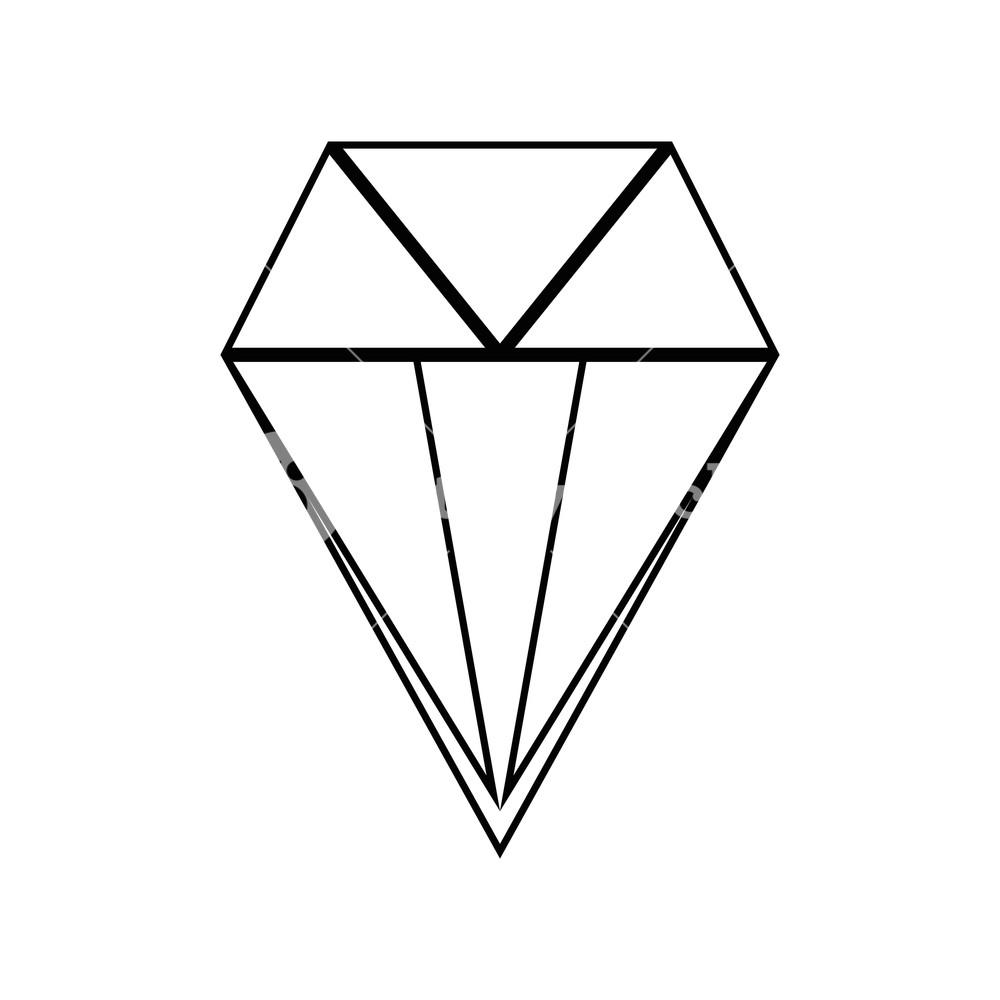 1000x1000 Line Brilliant Crystal Diamond And Precious Gem Vector