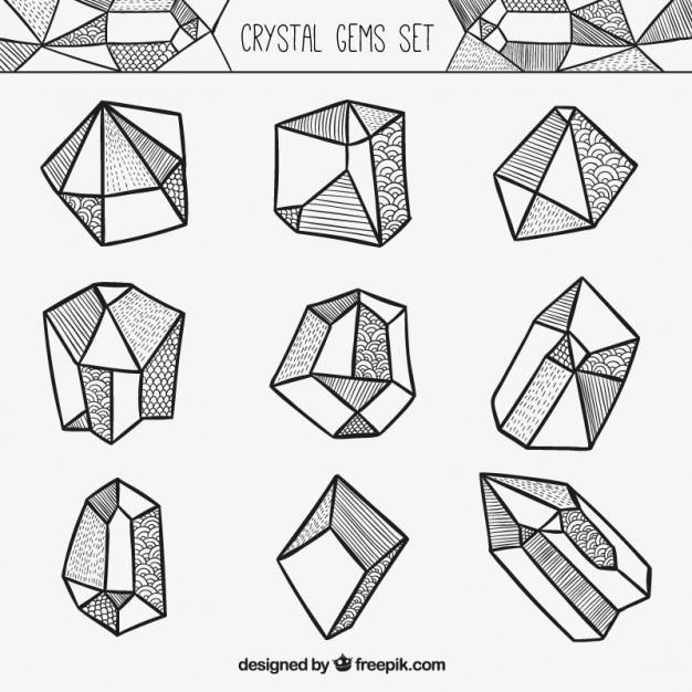 626x626 Crystal Gems Set Vector Premium Download