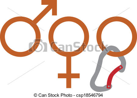 450x323 Climbing Gender. Vector Illustration Of Gender Sign Suggesting