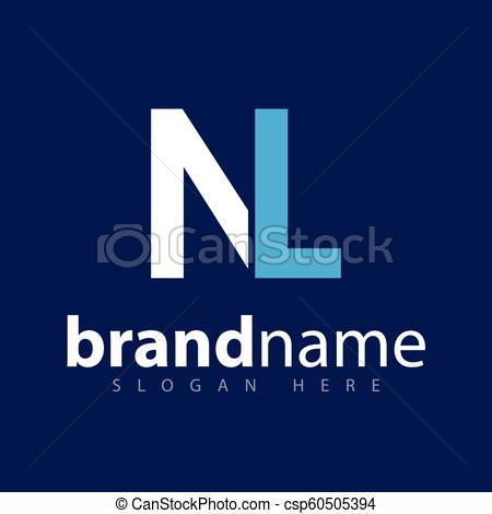 450x470 N L Initial Letter Logo Vector.