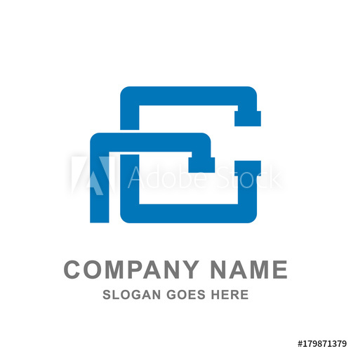 500x500 Pipe Plumbing Service Water Logo Vector Icon