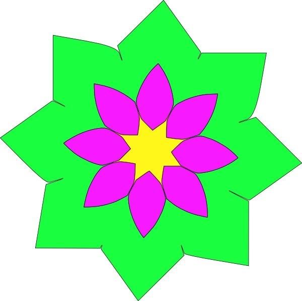 600x599 Geometric Flower Shape Clip Art Free Vector In Open Office Drawing
