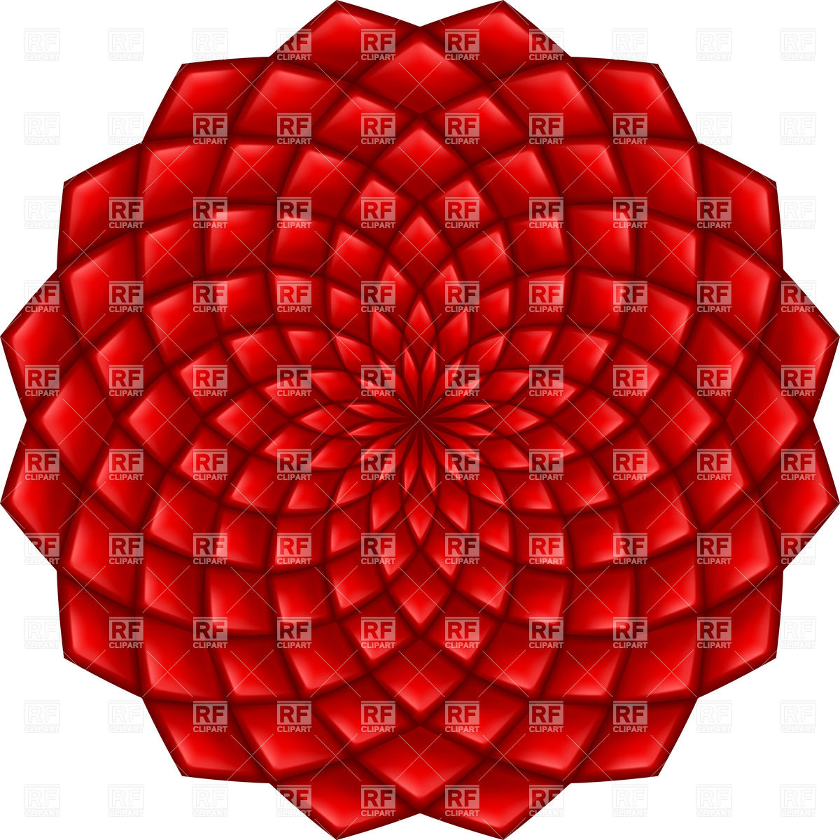 1200x1200 Abstract Red Mosaic Geometric Flower Vector Image Vector Artwork