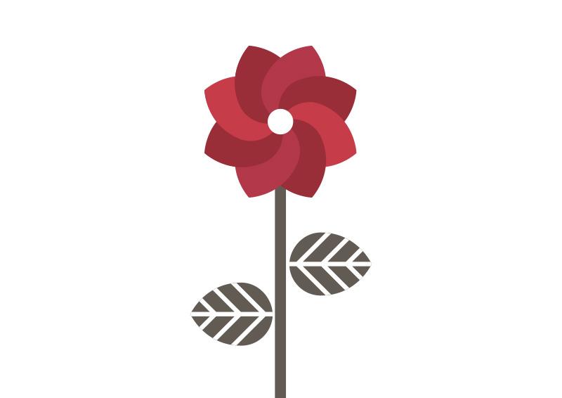 800x566 Simple Geometric Flower