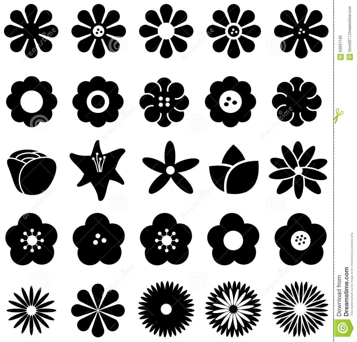 1356x1300 Simple Shape Geometric Flower Such As Rose Tulip Sunflower Daisy