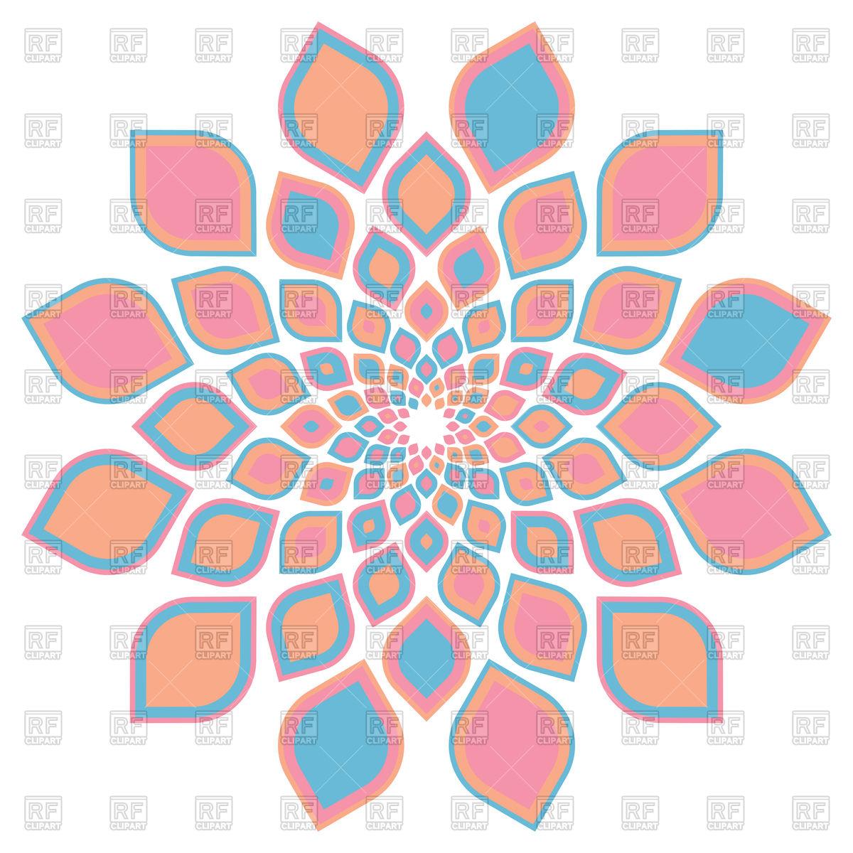 1200x1200 Traditional Vintage Geometric Infinite Flower Vector Image