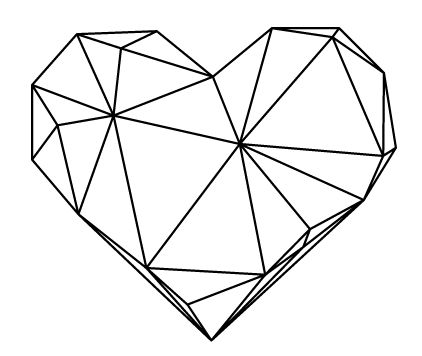 422x356 Geometric Heart Tattoos