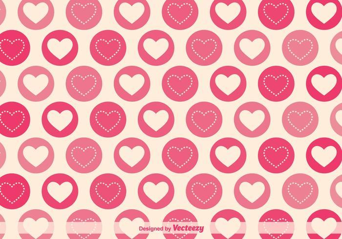 700x490 Geometric Hearts Vector Pattern