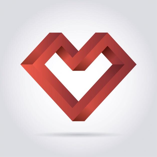 626x626 Geometric Heart Vector Free Download