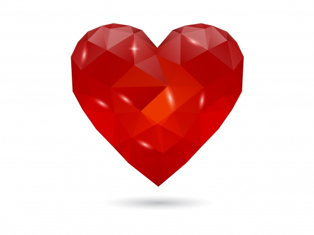 626x469 Geometric Heart Background Vector Free Download
