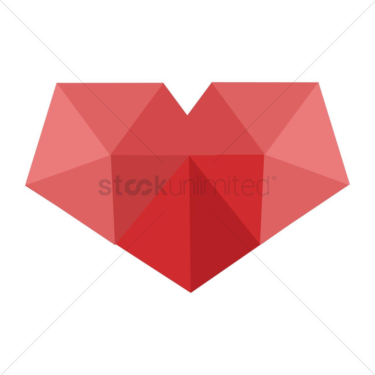1300x1300 Geometric Heart Design Vector Image
