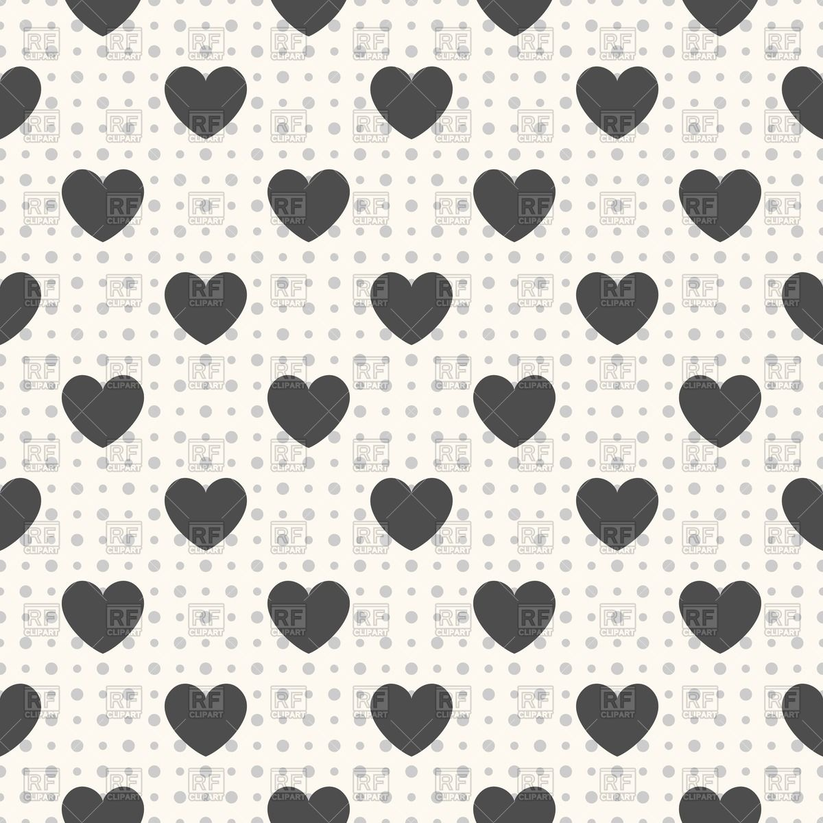 1200x1200 Seamless Geometric Pattern With Black Hearts Vector Image Vector