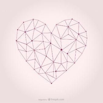 338x338 Vector Heart Geometric Design Graphics! In 2018