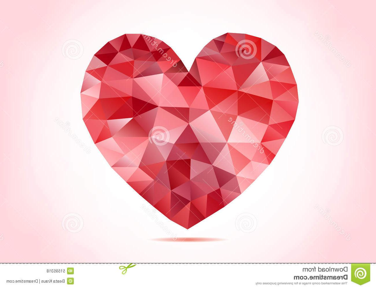 1300x1000 Best Hd Abstract Red Low Poly Heart Vector Geometric Pattern Photos