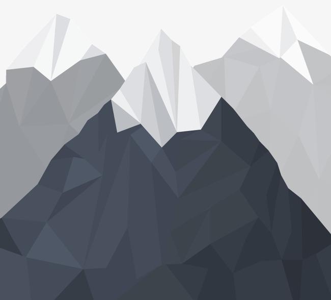 650x588 Snow Mountain Peak Geometric Vector Material, Geometric Shape