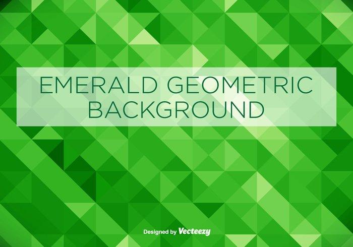 700x490 Emerald Green Geometrical Vector Background