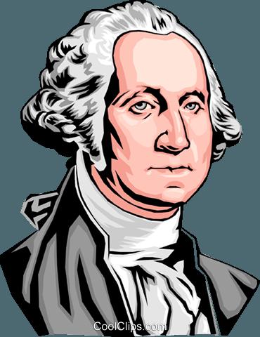370x480 George Washington Royalty Free Vector Clip Art Illustration