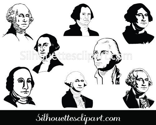 500x400 George Washington Silhouette Clip Art Download Clip Art
