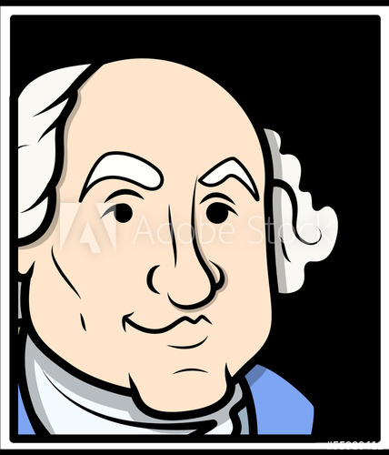 428x500 George Washington Vector