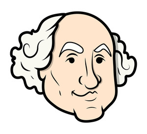 300x274 George Washington Vector Illustration Clip Art Royalty Free Stock