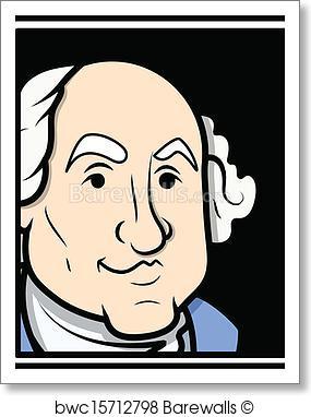 285x382 Art Print Of George Washington Vector Barewalls Posters Amp Prints
